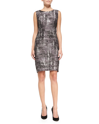 Angelina Sleeveless Printed Sheath Dress