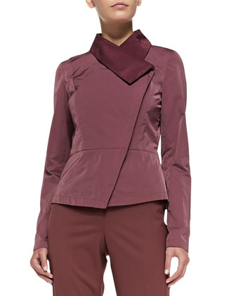 Estelle Asymmetric Peplum Jacket