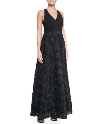 Halter Floral Skirt Gown