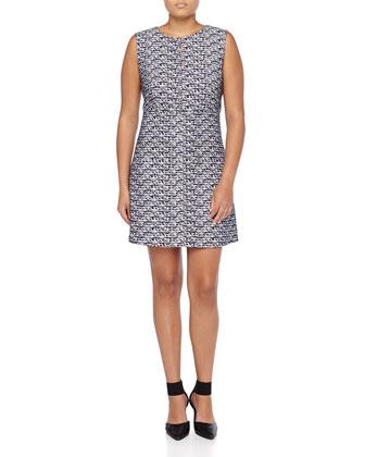Sleeveless Woven A-line Dress