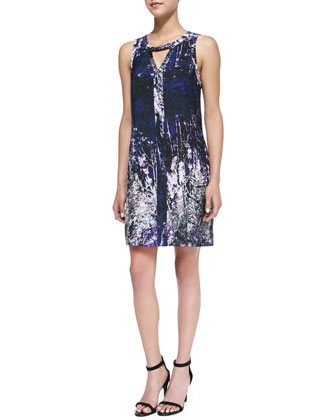 Yasmin Abstract Flora Print Dress