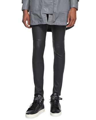 Lambskin Ankle Skinny Pants