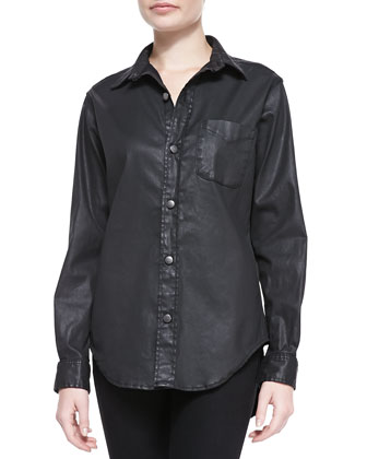 Prep School Shirt, Black Coated