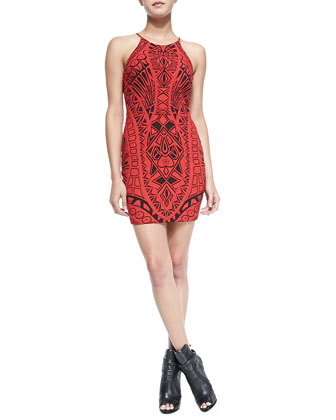 Jaden Printed Open-Back Dress