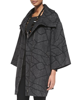 Cracked Ice Jacquard Alpaca-Blend Coat