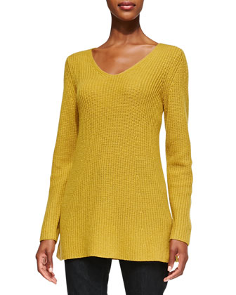 Super-Soft V-Neck Tunic, Mustard Seed