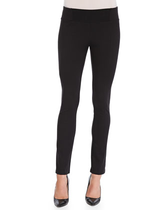 Rayon Knit Skinny Pants, Black, Petite