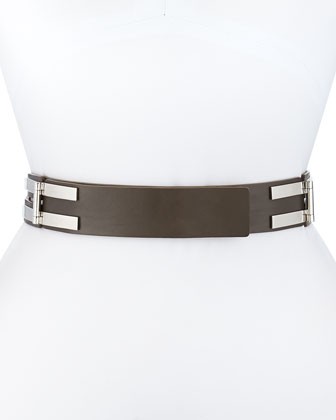 Leather Double-Pin Hinge Belt