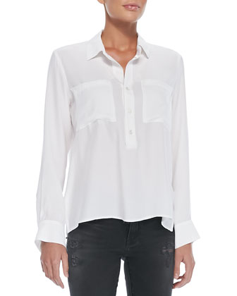 Le Boyfriend Loose Silk Blouse