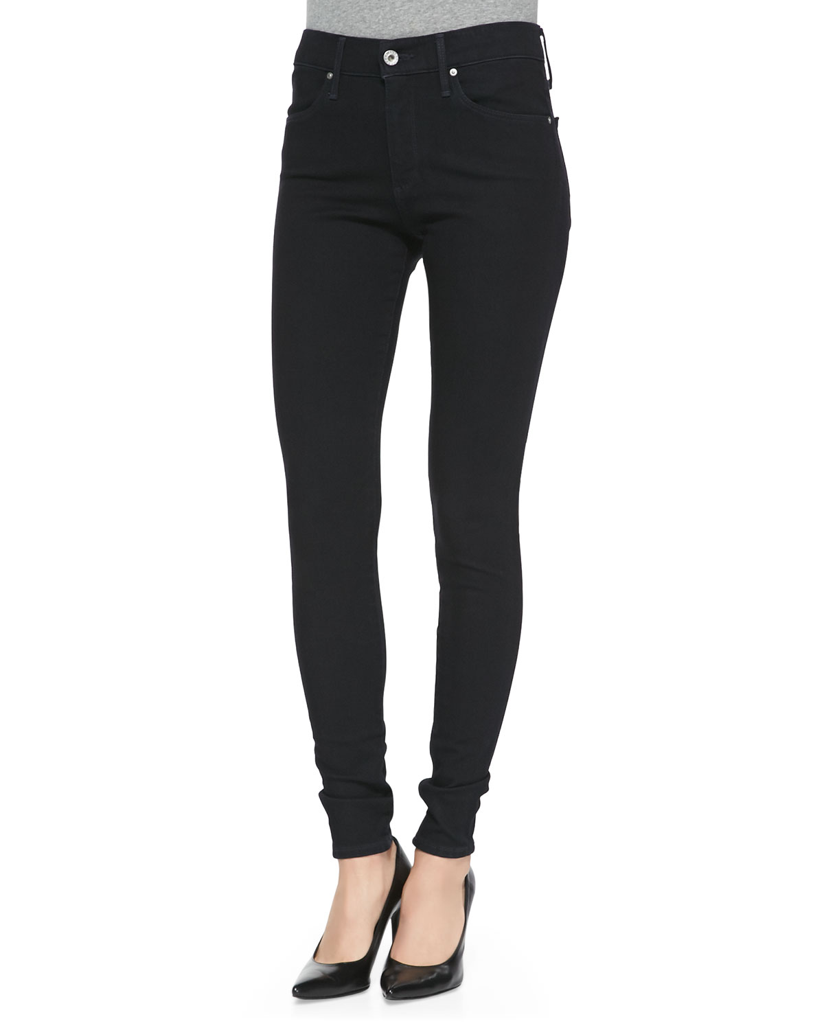 Farrah Hideout High-Rise Skinny Jeans, Size: 24 - AG
