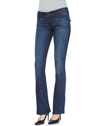 Becca Mid-Rise Boot-Cut Jeans, Faithful Message