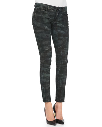 Casey Tiger/Camo-Print Skinny Jeans