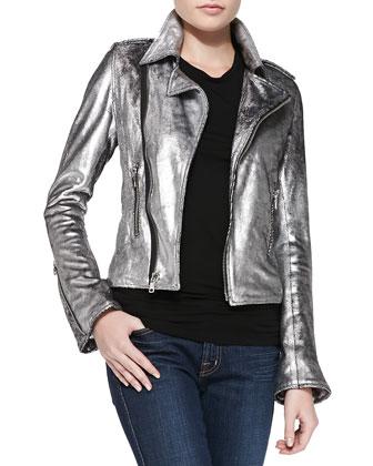 Joe's Jeans Space Cowboy Metallic Leather Jacket, Frankie Sometimes I ...