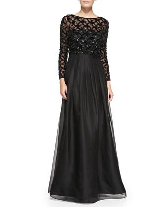 Bracelet Sleeve Popover Top Gown