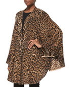Cashmere Leopard Sweater Cape