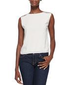 Baka Sleeveless Sequined-Shoulder Top