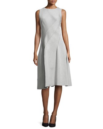 Spiral Fit-and-Flare Modal Dress, Ash