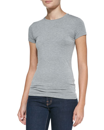 Soft Touch Short-Sleeve Crewneck Tee