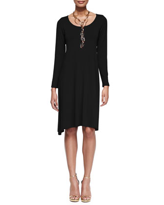 Scoop-Neck Jersey Dress