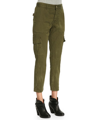 Eliot Militaire Cropped Cargo Pants