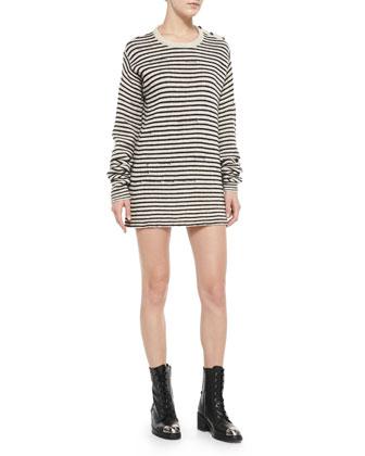 Jada Striped Knit Short Dress