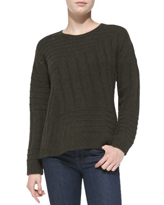 Kansa Grommet-Detail Knit Sweater