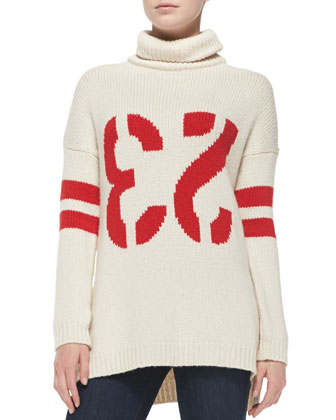 23 Intarsia Knit Turtleneck Sweater