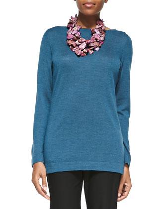 Merino Wool Long-Sleeve Top