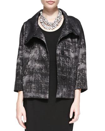 Grandeur Jacquard Snap-Front Jacket, Women's