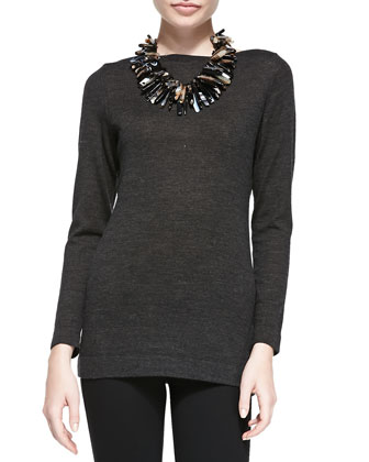 Merino Wool Long-Sleeve Top