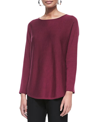 Merino Jersey Shirttail Tunic