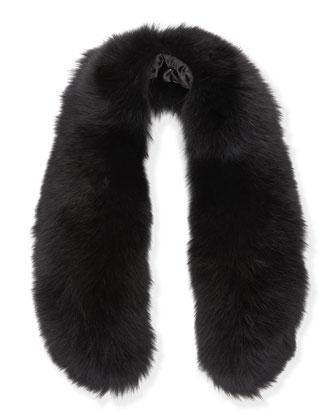 Izzy Fox Fur Collar, Black