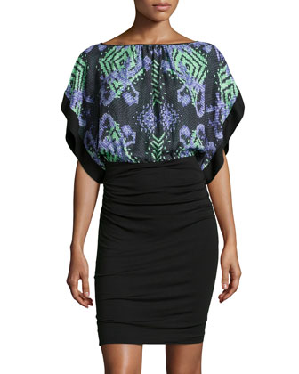 Abito Donna Dress w/ Printed Caftan Top