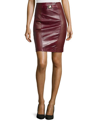 Gonna Pelle Leather Skirt