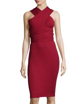 Jersey Infinity Dress, Pomegranate