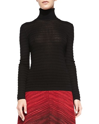 Long-Sleeve Ribbed Turtleneck