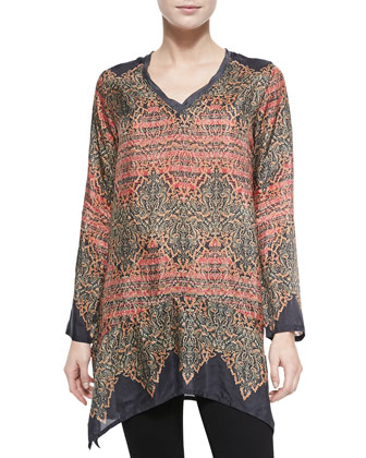 Morraca Printed Georgette Tunic, Women's