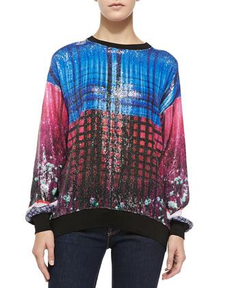 Enchanted Woodlands-Print Sweatshirt