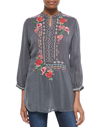 Selina Embroidered Georgette Blouse