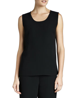 Microfiber Long Tank, Black, Women's