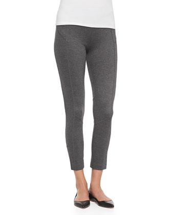 Seamed Ponte Leggings, Petite