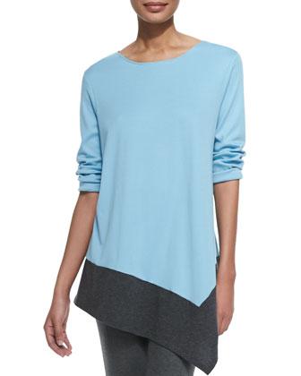 Colorblock Asymmetric Knit Tunic, Women's