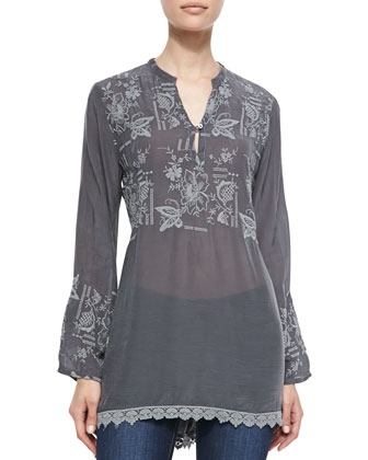 Spring Georgette High-Low Blouse, Women's