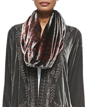 Tribal Circle Silk Velvet Scarf