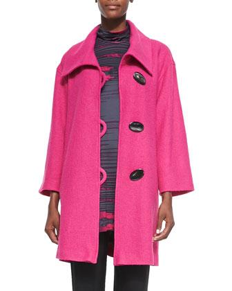 Paris Plush Easy Coat, Pink