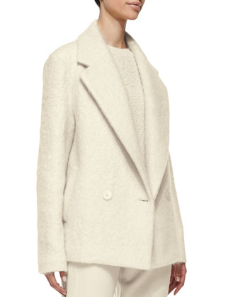 Lianmar Wide-Lapel Fleece Coat, Jaidyn Fuzzy Knit Sweater & Korene Knit ...