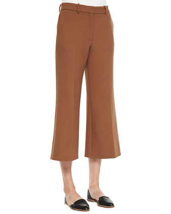 Inza Cropped Wide-Leg Pants