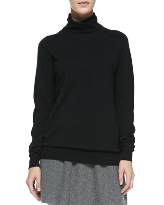 Kristoff Knit Turtleneck Sweater, Black