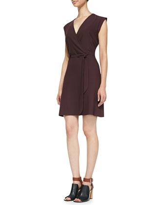 Pavita Wrap-Front Jersey Dress