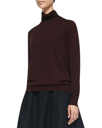 Kristoff Knit Turtleneck Sweater & Merlock Pleated Short Skirt